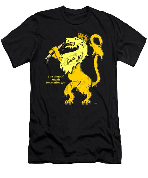 Inspirational - The Lion Of Judah Men's T-Shirt (Slim Fit) by Glenn McCarthy Art and Photography