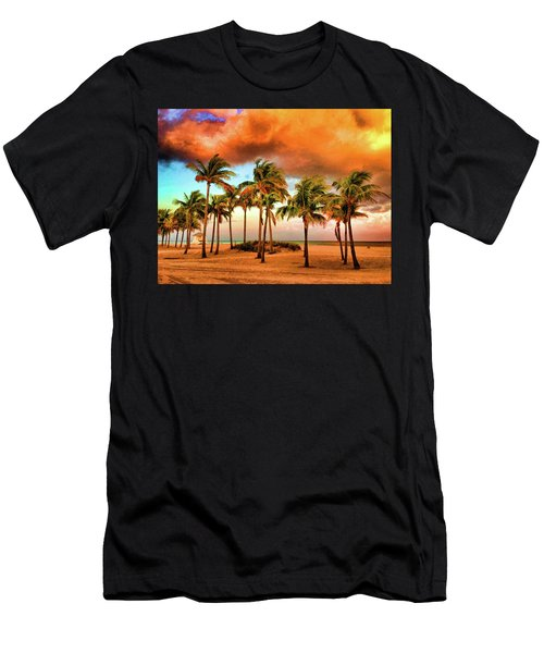 Crandon Park Beach Men's T-Shirt (Athletic Fit)