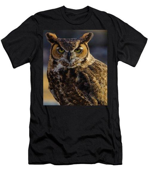 Intense Owl Men's T-Shirt (Athletic Fit)