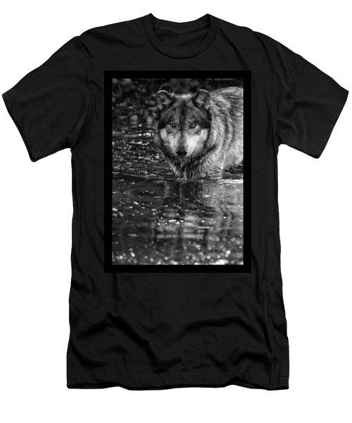 Men's T-Shirt (Slim Fit) featuring the photograph Intense Reflection by Shari Jardina