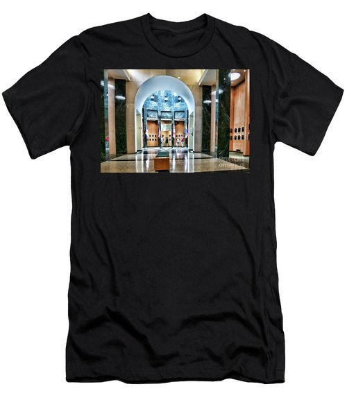 Interior Baseball Hall Of Fame Cooperstown Ny  Men's T-Shirt (Athletic Fit)