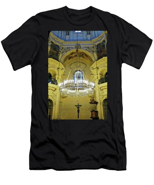 Interior Evening View Of St. Nicholas Church In Prague Men's T-Shirt (Athletic Fit)