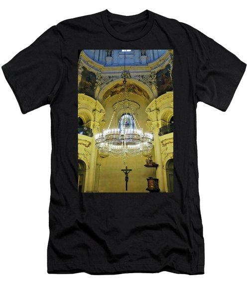 Interior Evening View Of St. Nicholas Church In Prague Men's T-Shirt (Athletic Fit)