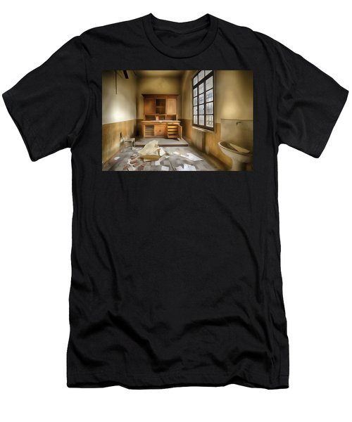 Interior Furniture Atmosphere Of Abandoned Places Dig Paint Men's T-Shirt (Athletic Fit)