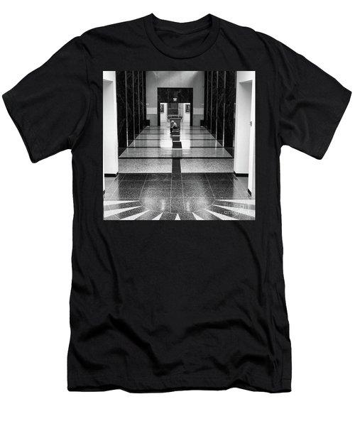 Interior Baseball Hall Of Fame Black White  Men's T-Shirt (Athletic Fit)