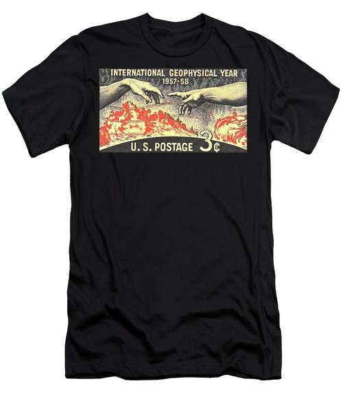 International Geophysical Year Stamp Men's T-Shirt (Athletic Fit)