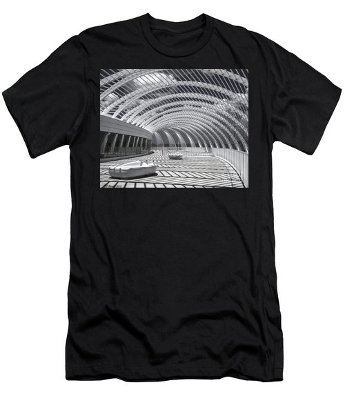 Intersecting Lines Men's T-Shirt (Athletic Fit)
