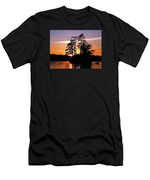 Into Shadow Men's T-Shirt (Slim Fit) by Lynda Lehmann