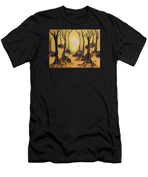 Into The Light Men's T-Shirt (Slim Fit) by Carolyn Cable