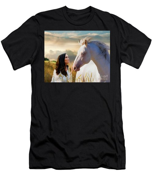 Men's T-Shirt (Athletic Fit) featuring the digital art Into The Wind by Melinda Hughes-Berland