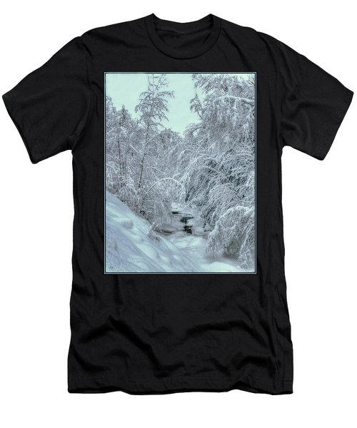 Men's T-Shirt (Athletic Fit) featuring the photograph Into White by Wayne King