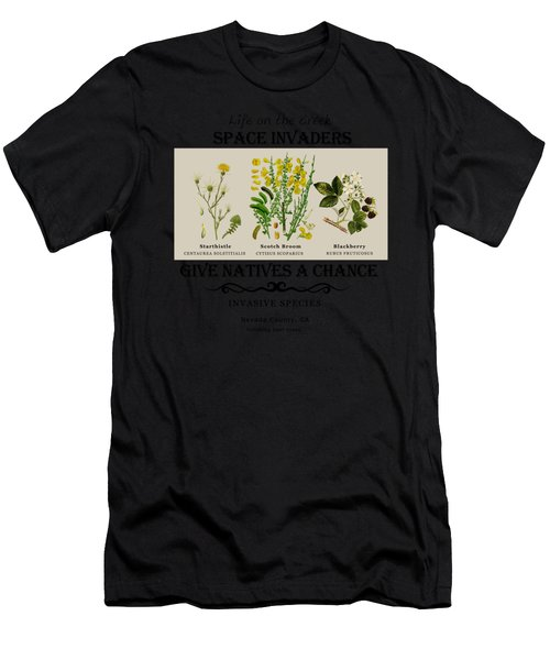 Invasive Species Nevada County, California Men's T-Shirt (Athletic Fit)