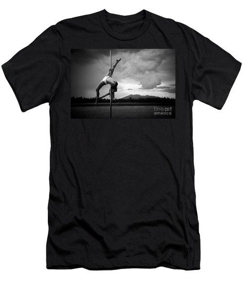 Inverted Splits Pole Dance Men's T-Shirt (Athletic Fit)