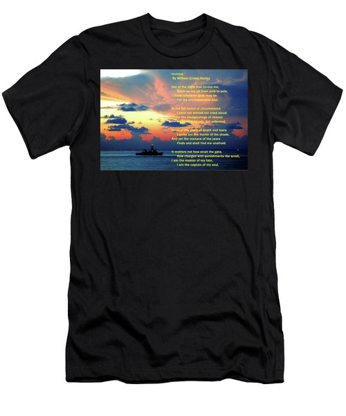 Invictus By William Ernest Henley Men's T-Shirt (Athletic Fit)