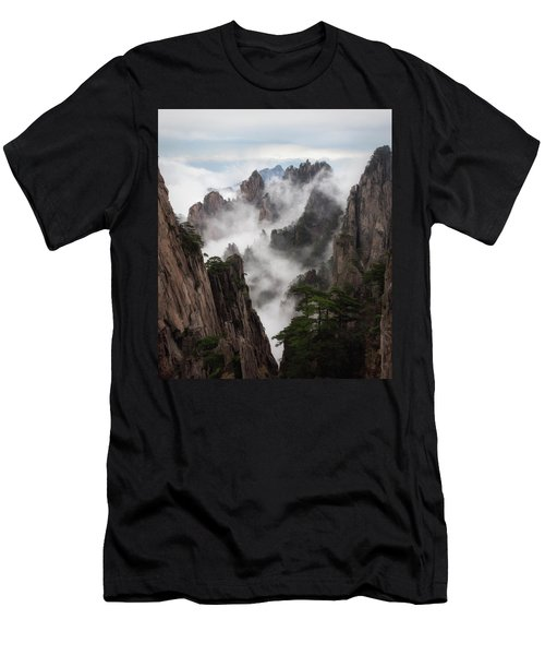 Invisible Hands Painting The Mountains. Men's T-Shirt (Athletic Fit)