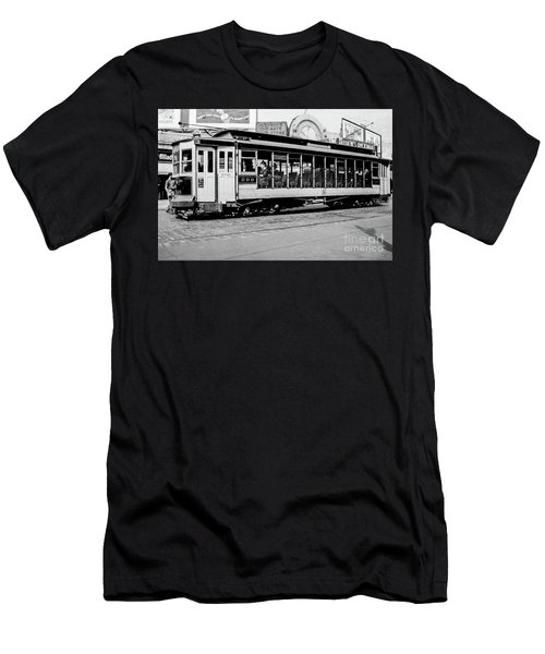 Men's T-Shirt (Athletic Fit) featuring the photograph Inwood Crosstown Trolley  by Cole Thompson