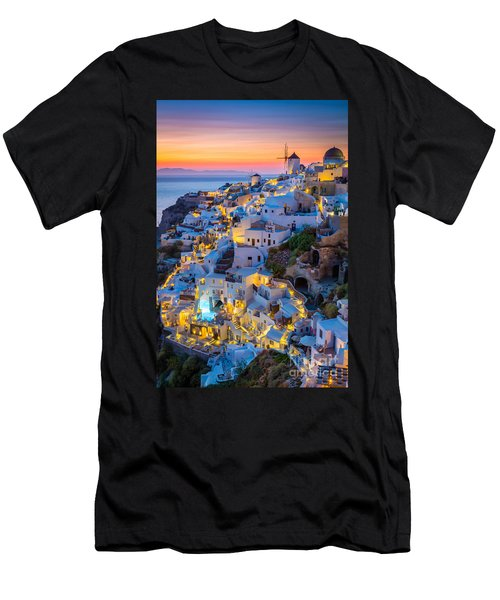 Oia Sunset Men's T-Shirt (Athletic Fit)