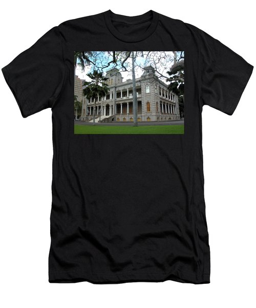 Men's T-Shirt (Athletic Fit) featuring the photograph Iolani Palace, Honolulu, Hawaii by Mark Czerniec
