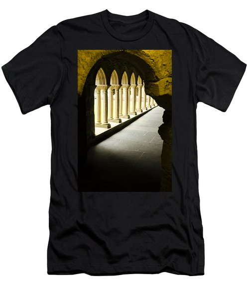 Men's T-Shirt (Slim Fit) featuring the photograph Iona Abbey Scotdland by Sally Ross