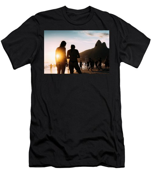 Ipanema, Rio De Janeiro, Brazil At Sunset Men's T-Shirt (Athletic Fit)