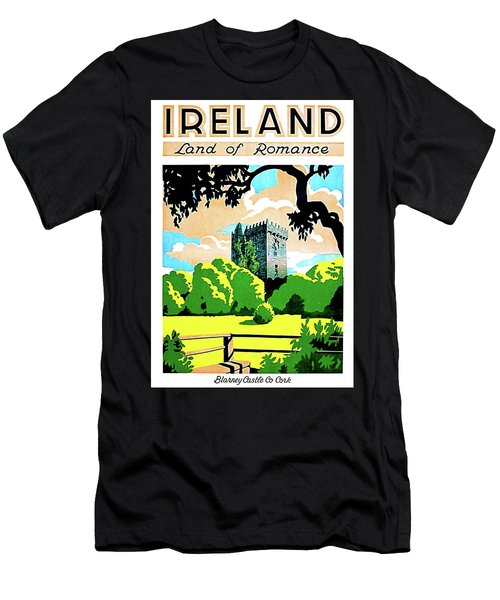 Ireland, Land Of Romance, Blarney Castle With Gardens Men's T-Shirt (Athletic Fit)