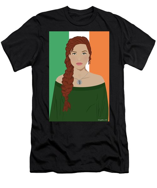 Men's T-Shirt (Athletic Fit) featuring the digital art Ireland by Nancy Levan