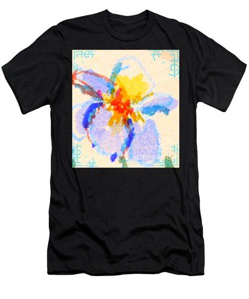 Iris Bloom Men's T-Shirt (Athletic Fit)