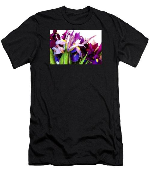 Iris Bouquet Men's T-Shirt (Slim Fit) by Janis Nussbaum Senungetuk