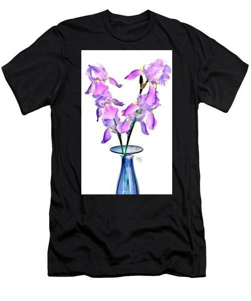 Iris Still Life In A Vase Men's T-Shirt (Athletic Fit)