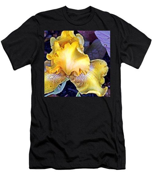 Men's T-Shirt (Slim Fit) featuring the photograph Iris Supreme by Vonda Lawson-Rosa