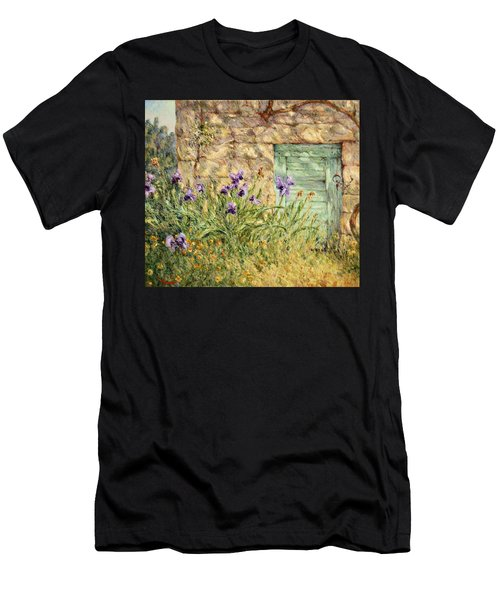 Irises At The Old Barn Men's T-Shirt (Athletic Fit)