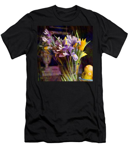 Irises In A Glass Men's T-Shirt (Athletic Fit)