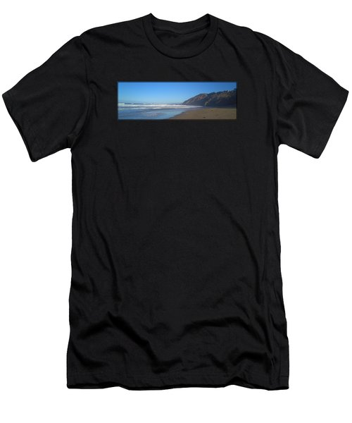 Irish Beach With Border Men's T-Shirt (Athletic Fit)