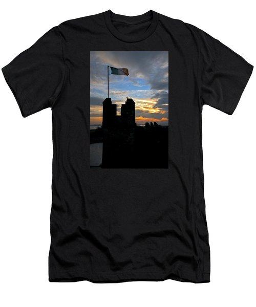 Irish Sunset Over Ramparts 1 Men's T-Shirt (Athletic Fit)