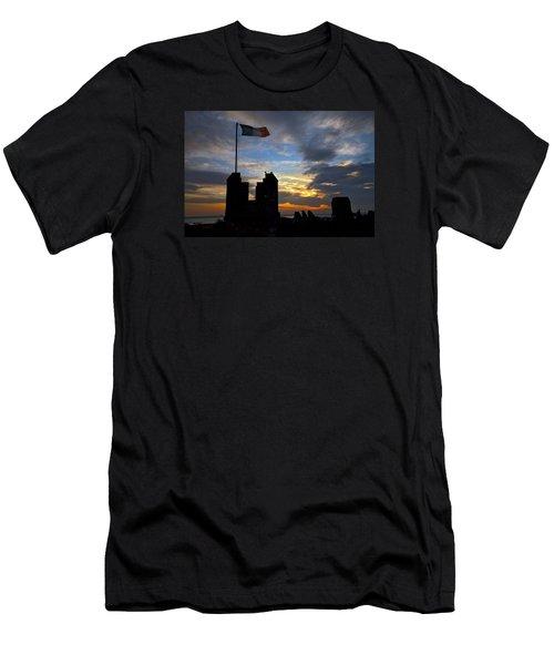 Irish Sunset Over Ramparts 2 Men's T-Shirt (Athletic Fit)