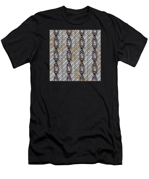 Iron Chains With Metal Panels Seamless Texture Men's T-Shirt (Athletic Fit)