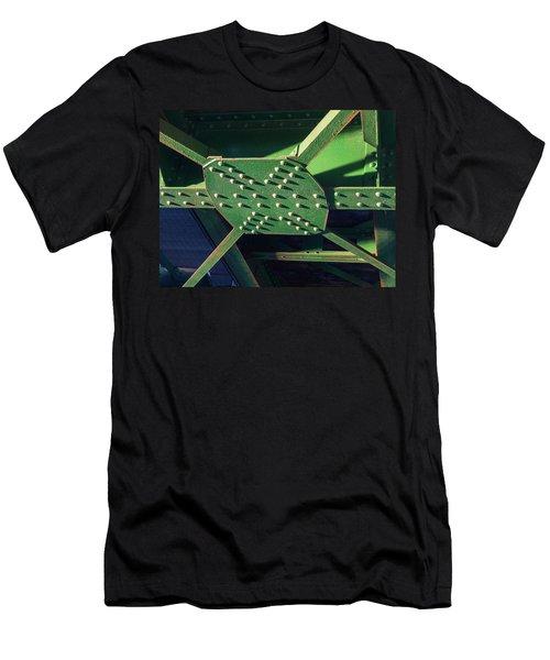 Iron Rail Bridge Men's T-Shirt (Athletic Fit)