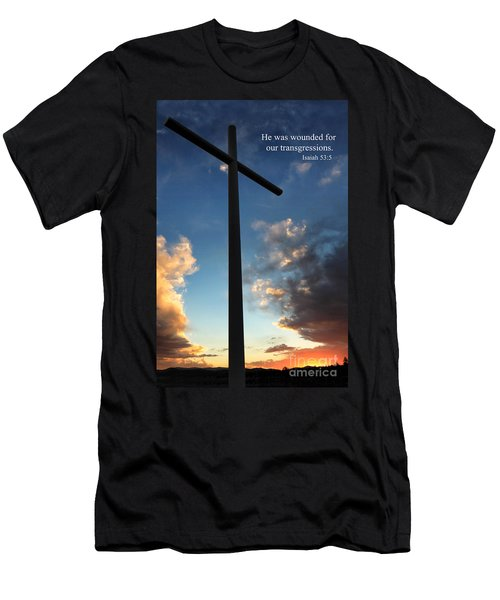 Isaiah 53-5 Men's T-Shirt (Athletic Fit)
