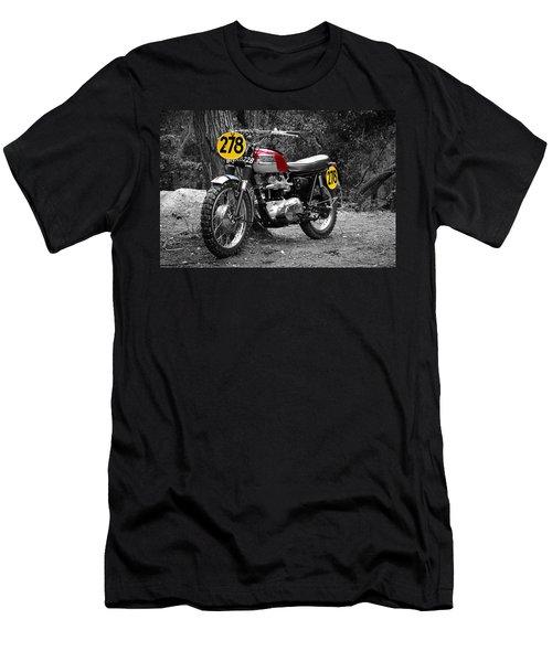 Isdt Triumph Steve Mcqueen Men's T-Shirt (Athletic Fit)