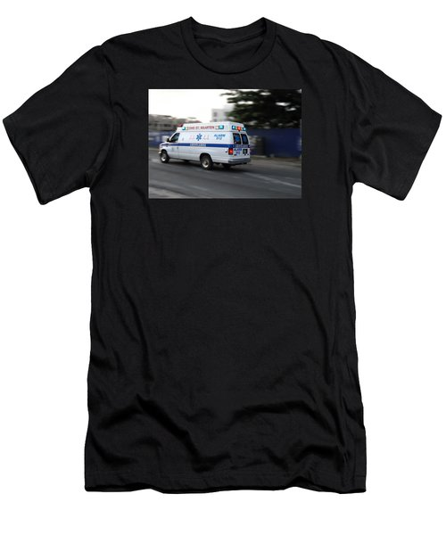 Men's T-Shirt (Slim Fit) featuring the photograph Island Ambulance by RKAB Works
