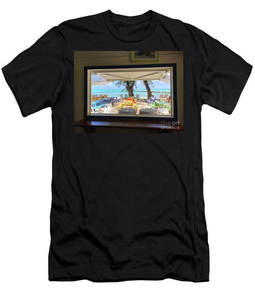 Island Bar View Men's T-Shirt (Athletic Fit)