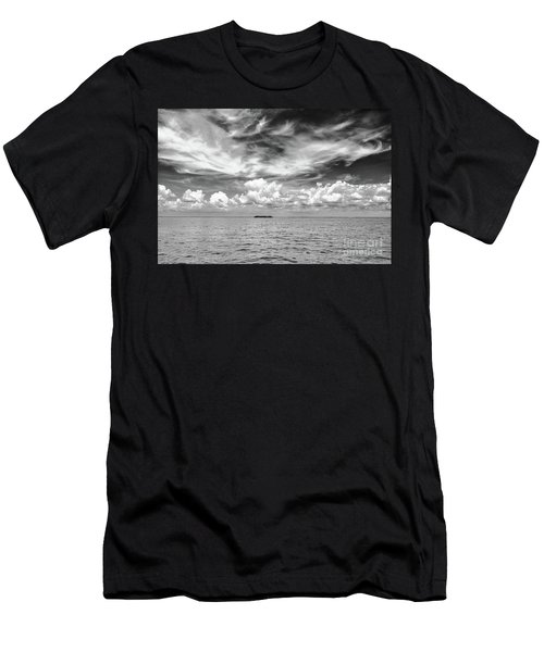 Island, Clouds, Sky, Water Men's T-Shirt (Athletic Fit)