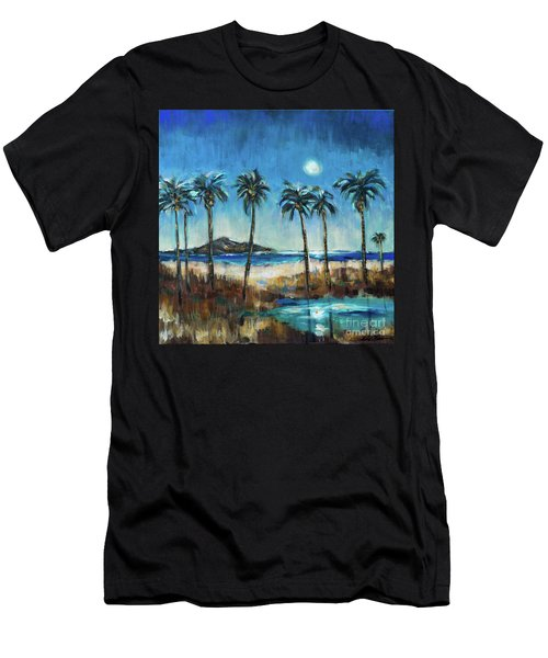 Island Lagoon At Night Men's T-Shirt (Athletic Fit)