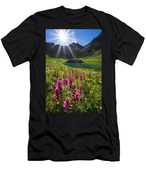 Island Lake Flowers Men's T-Shirt (Athletic Fit)