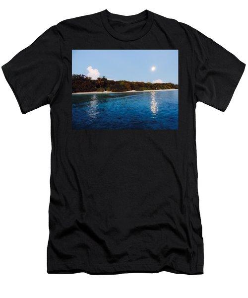 Island Moonrise Men's T-Shirt (Athletic Fit)