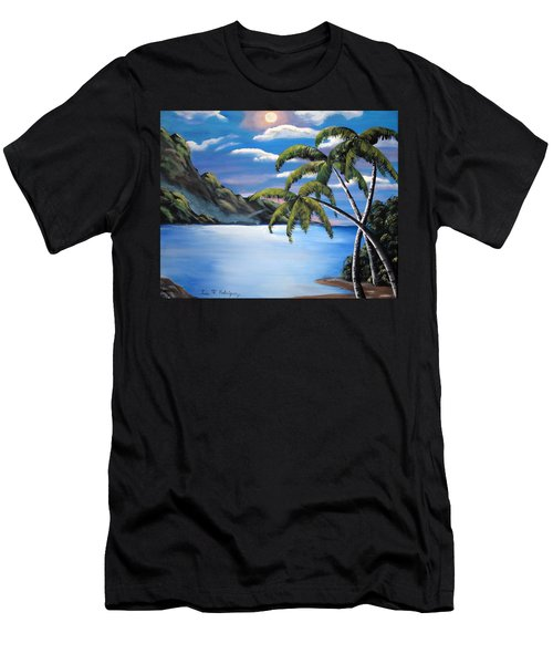 Island Night Glow Men's T-Shirt (Athletic Fit)