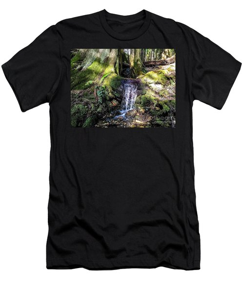 Island Stream Men's T-Shirt (Slim Fit) by William Wyckoff