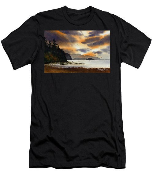 Men's T-Shirt (Slim Fit) featuring the painting Islands Autumn Sky by James Williamson