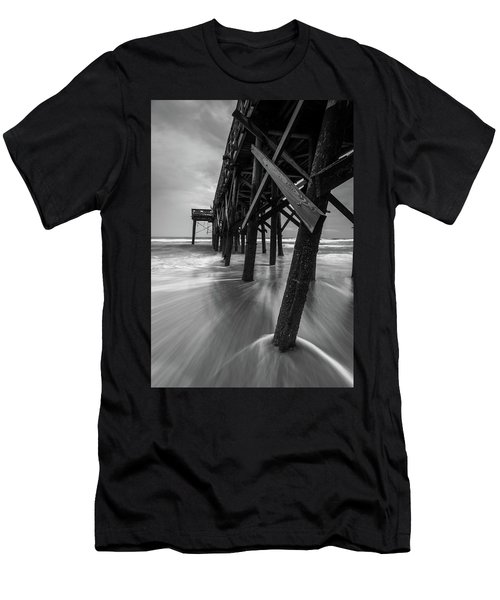 Isle Of Palms Pier Water In Motion Men's T-Shirt (Athletic Fit)
