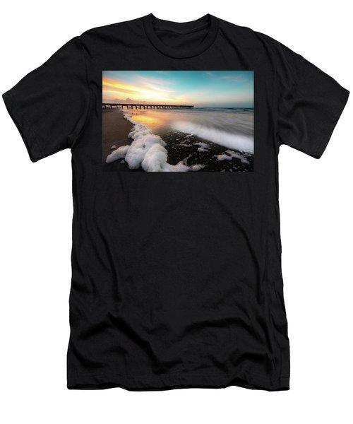Isle Of Palms Pier Sunrise And Sea Foam Men's T-Shirt (Athletic Fit)